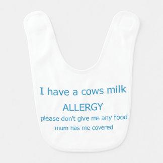 Cows milk allergy bib