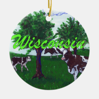 Cows of Wisconsin Christmas Ornament