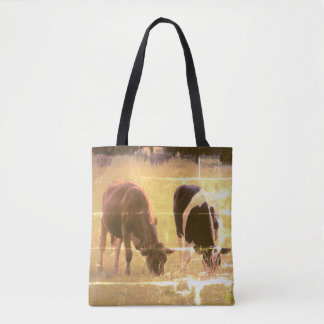 Cows Photography  Custom All-Over-Print Tote Bag
