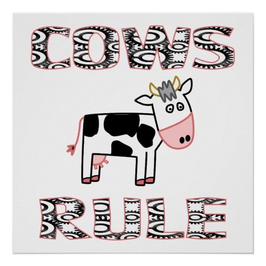 COWS RULE Poster