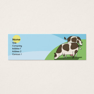 Cows - Skinny Mini Business Card