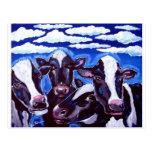 Cows Vegetarian Colourful Folk Art
