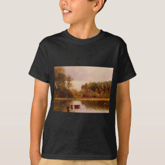 Cows Watering in a Landscape by Albert Bierstadt Tee Shirts