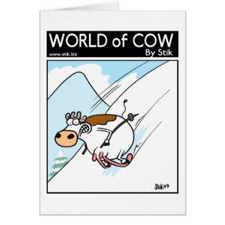 CowSkiing Card