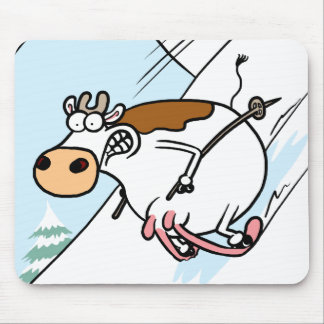 CowSkiing Mouse Pad