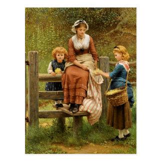 Cowslips by George Dunlop Leslie Postcard