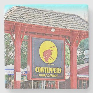 Cowtippers Midtown, Atlanta Marble Stone Coaster. Stone Beverage Coaster