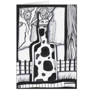 Cowy Bottle Greeting Card