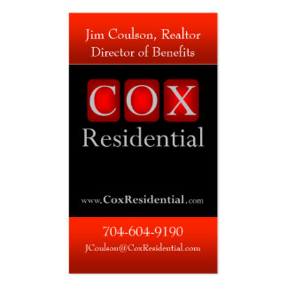Cox Residential Business Card Templates