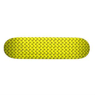 CoXtinkt Black Logo Pattern  Yellow Deck Skateboard