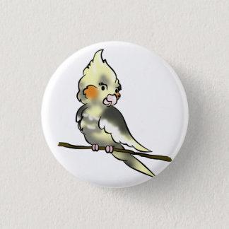 Coy Cockatiel Button