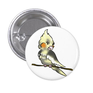 Coy Cockatiel Button