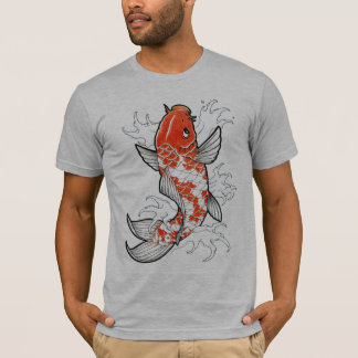 Coy Fish semi fitted gray mens tshirt
