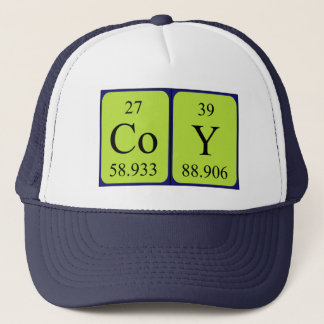Coy periodic table name hat