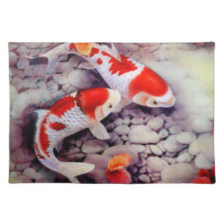 Coy Pond Vintage Japanese Art Placemat