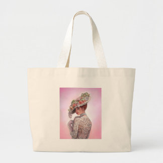 "Coy Victorian Lady ""Betty Lu"" Large Tote Bag"