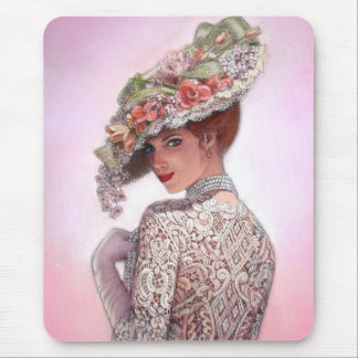 "Coy Victorian Lady ""Betty Lu"" Mouse Pad"