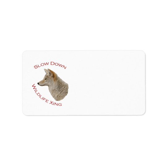 coyote address label