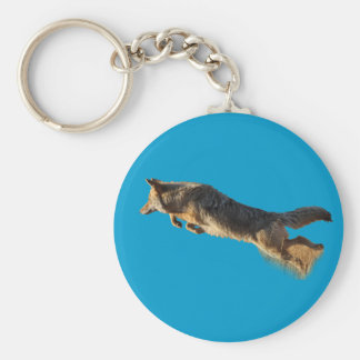 Coyote Flying Basic Round Button Key Ring