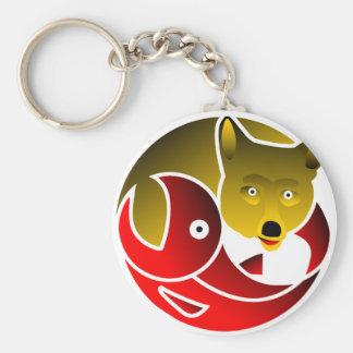 Coyote Frees Salmon Keychain