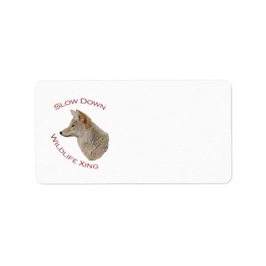 coyote label