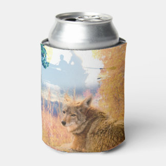 Coyote Landscapes North American Park Outdoor Dog Can Cooler