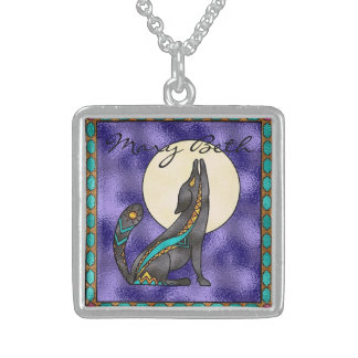 Coyote Moon Personalized Sterling Silver Necklace