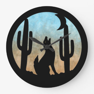 Coyote Moon Wall Clock
