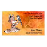 Coyote Pup Business Card - Fiery Orange