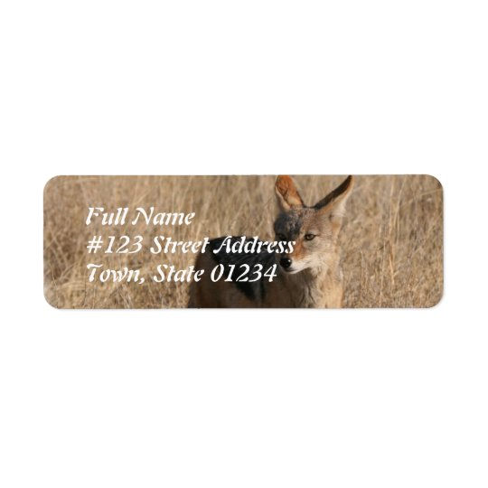Coyote Return Address Mailing Label