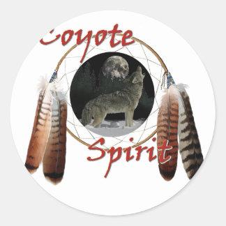 Coyote Spirit Classic Round Sticker