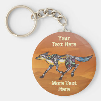 Coyote the Trickster Keychain