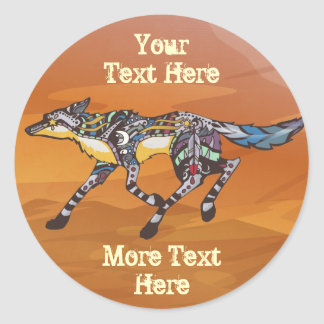 Coyote the Trickster Stickers