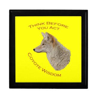 Coyote Wisdom Large Square Gift Box