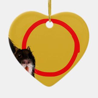 Coypu with circle ceramic heart decoration