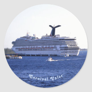 Cozumel Cruise Ship Visit Custom Round Sticker
