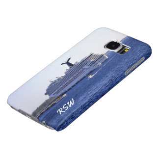 Cozumel Cruise Ship Visit Monogrammed Samsung Galaxy S6 Cases