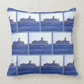 Cozumel Cruise Ship Visitor Pattern Cushion