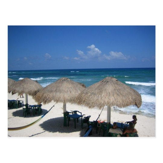 Cozumel Day At The Beach Postcard