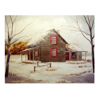Cozy Cabin Postcard