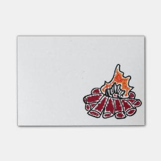 Cozy Campfire Cartoon Post-it® Notes