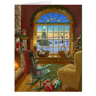 Cozy cat Christmas Big Greeting Card