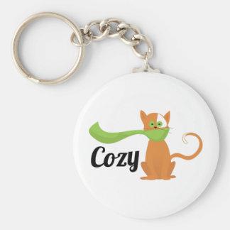 Cozy Cat Keychains