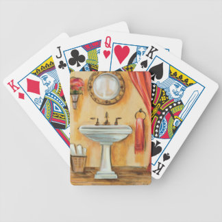 Cozy Contemporary Bathroom Bicycle Playing Cards