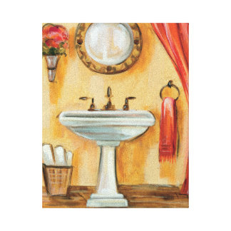 Cozy Contemporary Bathroom Canvas Print
