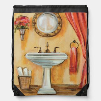 Cozy Contemporary Bathroom Drawstring Bag