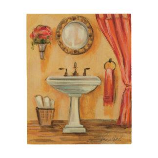Cozy Contemporary Bathroom Wood Print