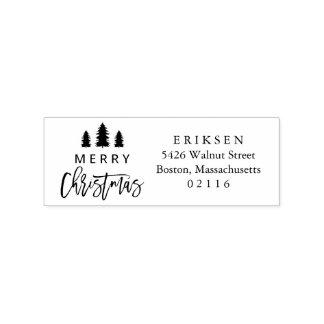Cozy | Holiday Return Address Stamp