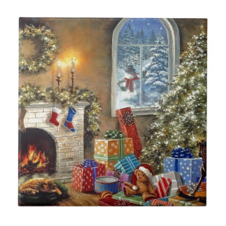 Cozy Holidays Small Square Tile