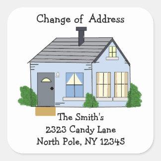 Cozy Home Change of Address Square Sticker